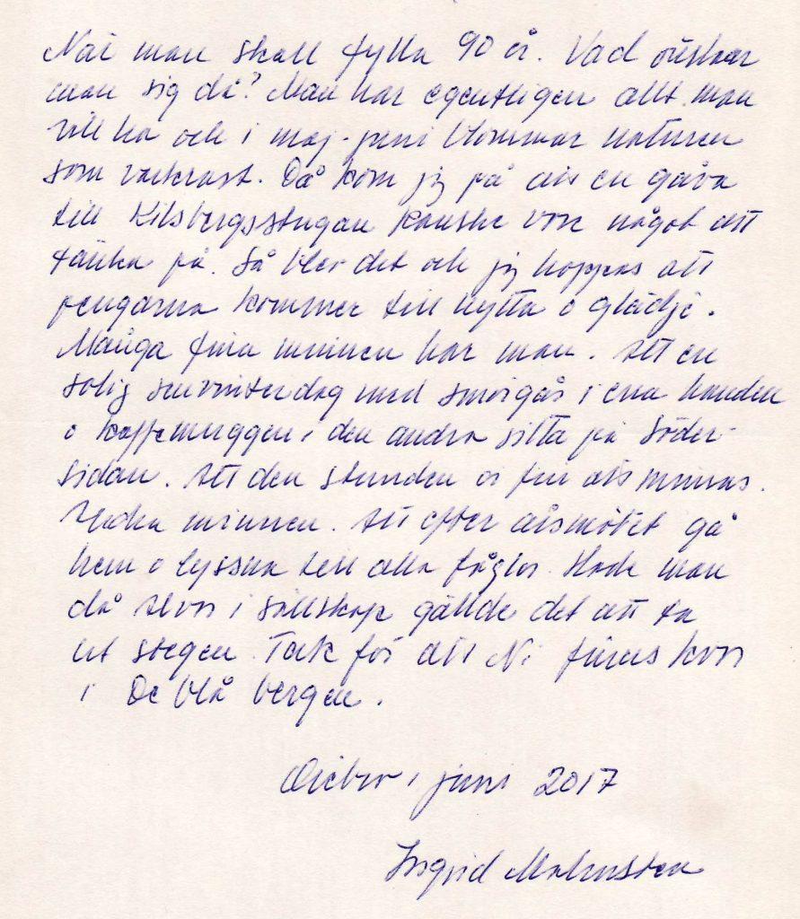 Handskrivet gåvobrev