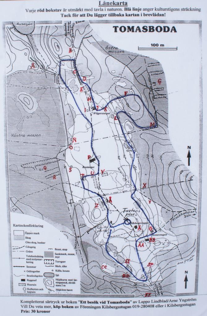 Kulturstig karta