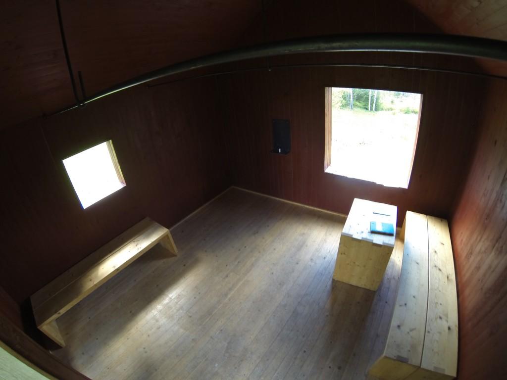 Vandrarens kapell. Interiör.