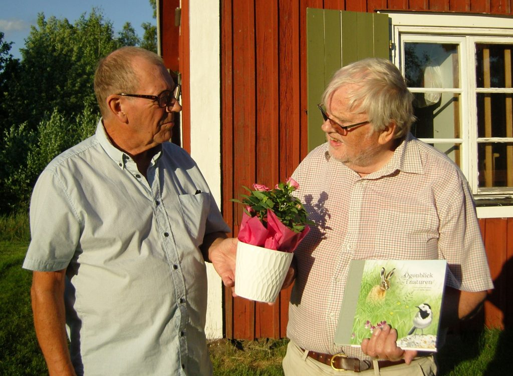 Lennart Nyström avtackas