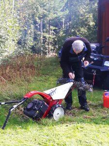 reparation av maskin